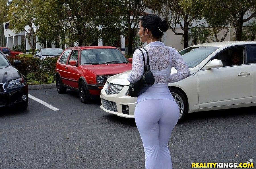 Big Black Ass Fucked Car