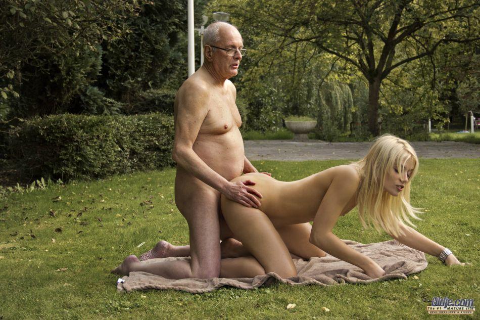 Beautiful naked senior women