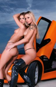 Liliane Tiger Lesbians fuck on a luxury sports car