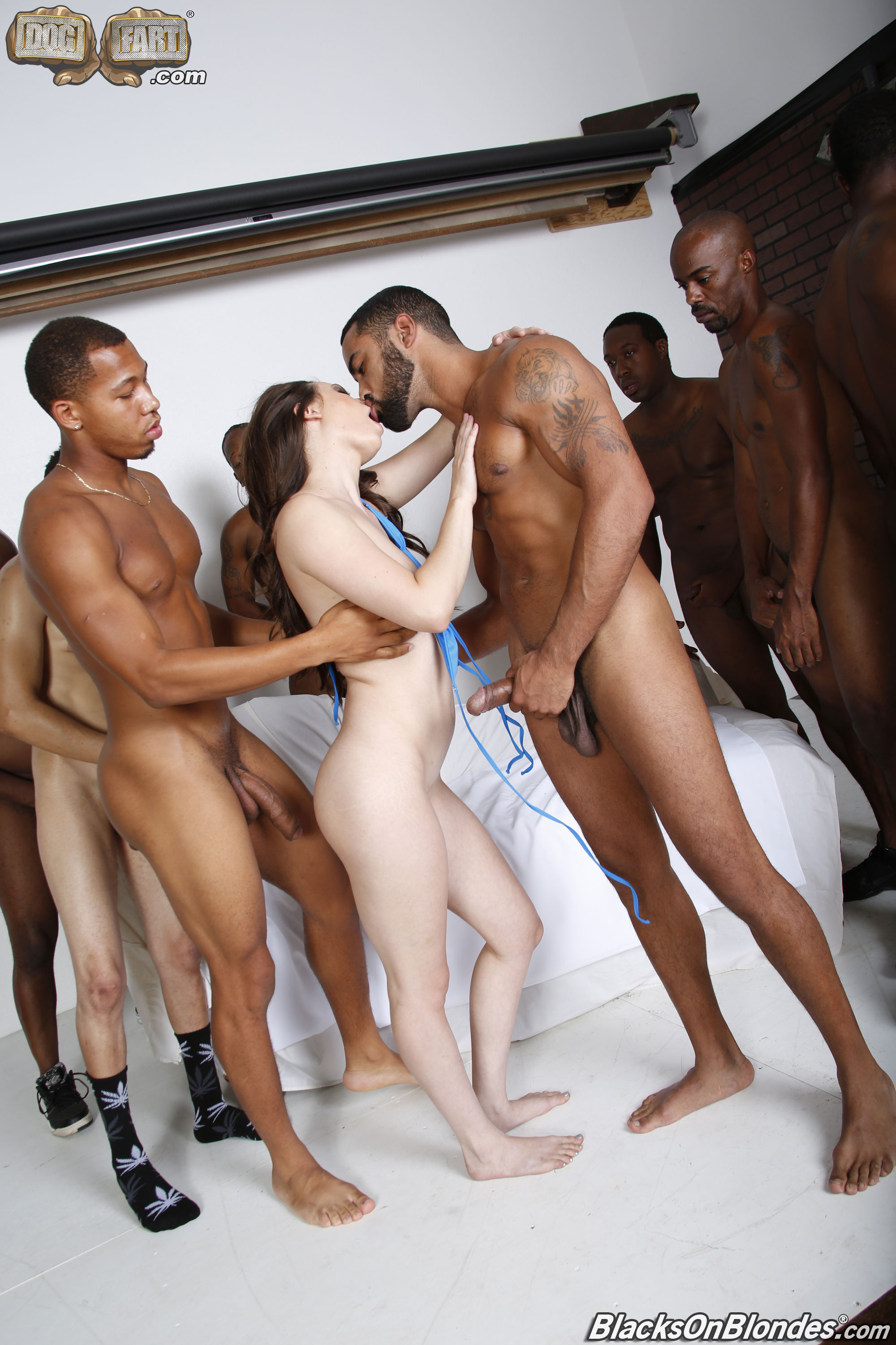 Interracial Gangbang Gallery 37