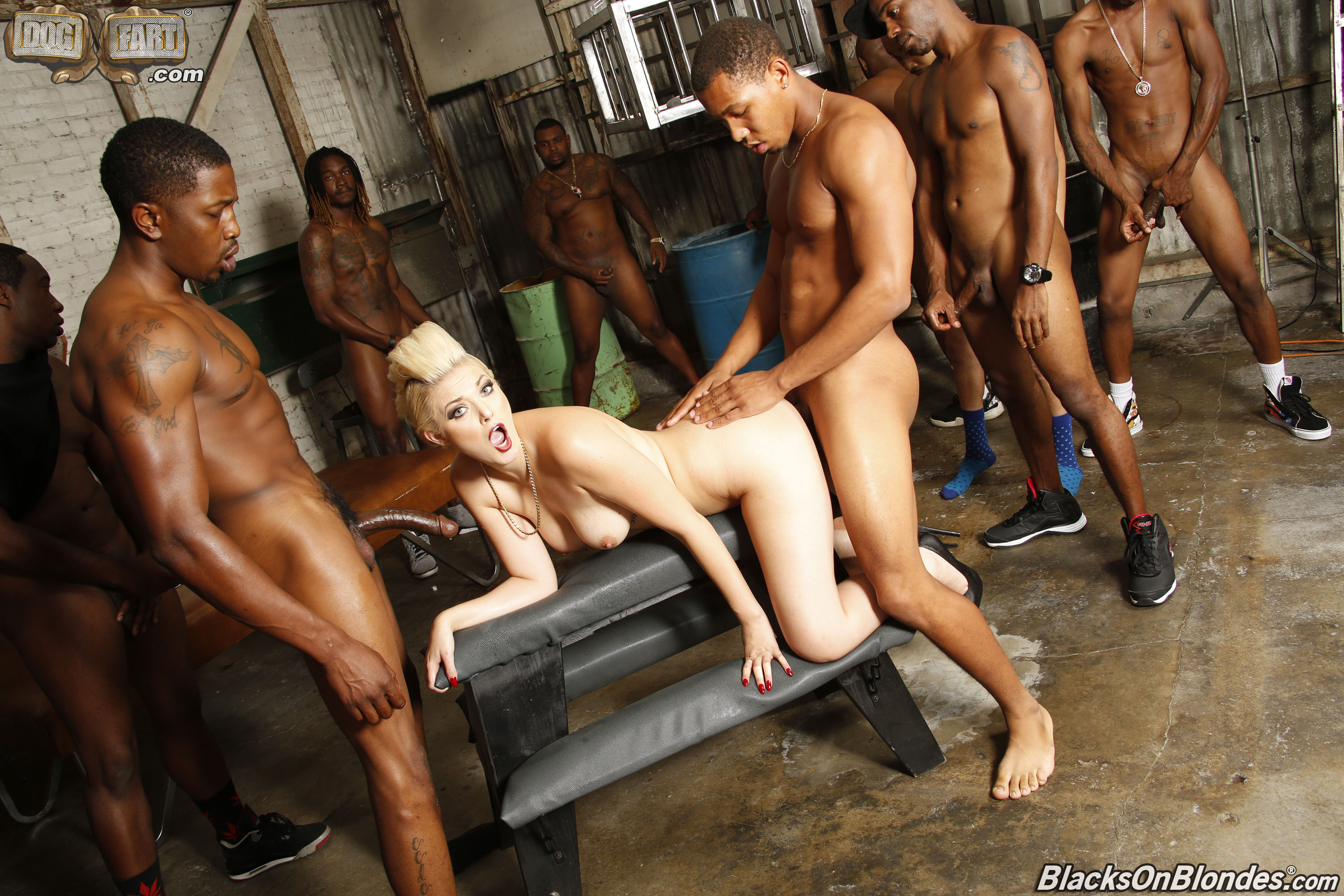 image Ebony orgy one dick sore loser