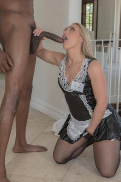 Kaylee Evans Sexy maid fucking her boss big black cock