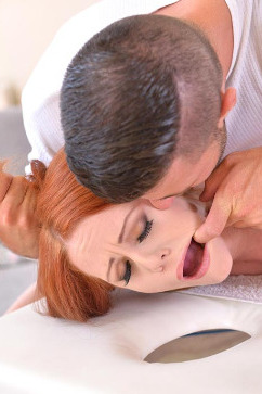 Ella Hughes Redhead gets bound massage and fuck!
