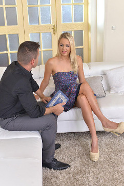Christen Courtney Lawyer Fucks Blonde Teen Deep In The Ass