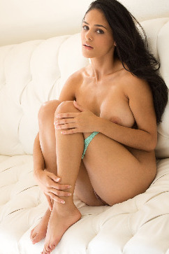Jasmine Caro Busty latina solo prelude on the couch!