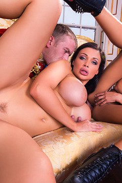 Aletta Ocean Two girls fucking and sucking a british guy