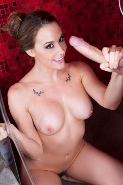 Chanel Preston In the shower taking it up my pussy like a slut