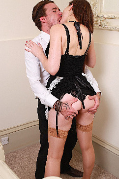 Tina Kay Busty maid polishing dick with all her wet tools