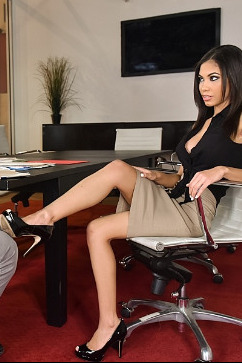 Shay Evans 'Tis the Season for Feet - Busty secretary foot creamed