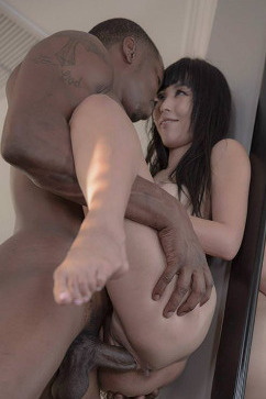 Marica Hase Petite asian having black dick in a Blissful Brunch