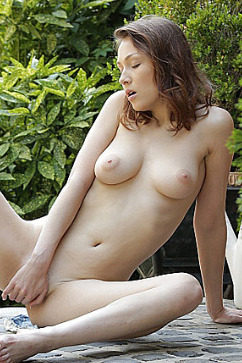 Macy Nata Macy Ssens masturbating and fingering in nude pictorial