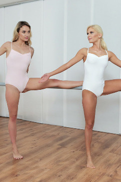 Candee Licious Naughty Threesome with two gorgeous ballerinas
