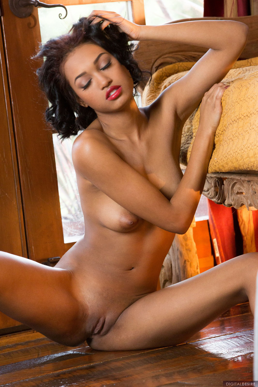 Hot ebony babe plays with butt plug amp vibrator in stockings 7