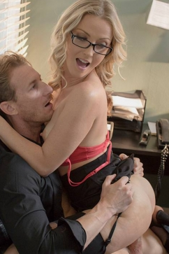 Karla Kush Office workout with a sip of cum!