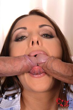Dominica Phoenix Sexy Assistant Sucks Two Cocks