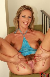 Gy�ngy Blonde MILF with Hairy Pussy