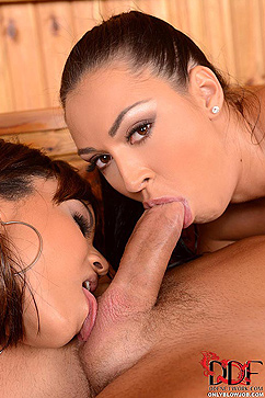 Rosalina Love Two Horny Babes Double Teaming