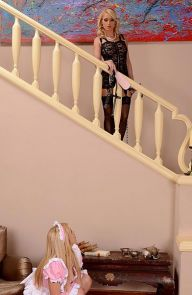 Bonnie Rose Maid Gets Paddled By Mistress