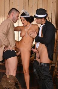 Anissa Kate Wild Girl Gets Two Cocks