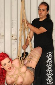 Becky Holt Tattooed Redhead Tied Up