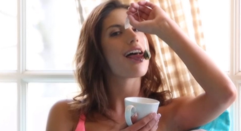 August Ames Tea time