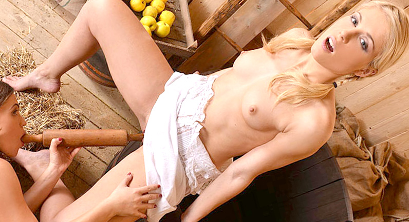 Alyssa Reece Lustful Distractions in a barn role play sex