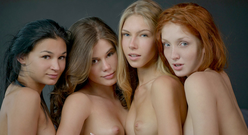 Little Caprice Four girls ready for sex