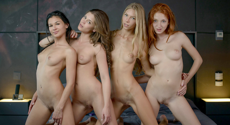Rosaline Rosa Four girls the perfect lesbian party