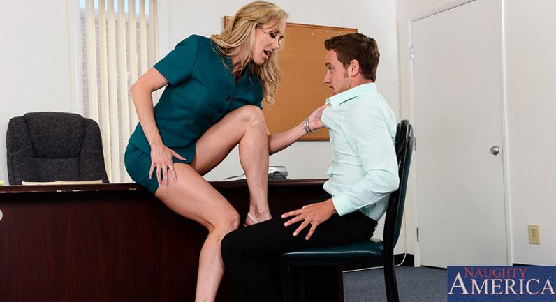 Brandi Love Brandi Love keeps her man's cock hard as a rock