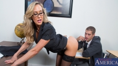 Brandi Love Milf teacher sucks and fucks like a slut