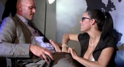 Peta Jensen Big tits secretary swallows and fucks her boss big time