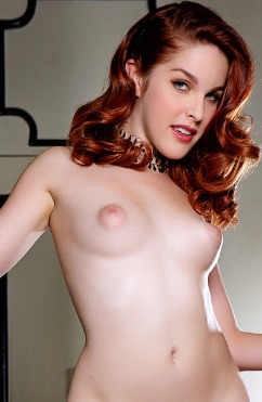 Beautiful redhead amarna miller gets blacked